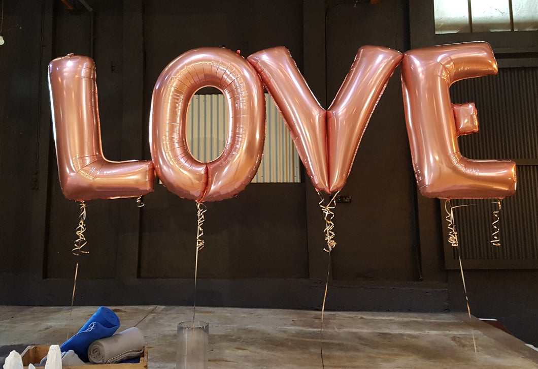 Jumbo Letters, Helium Filled - Each