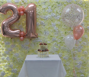 Giant Numbers and Confetti Balloon Combo