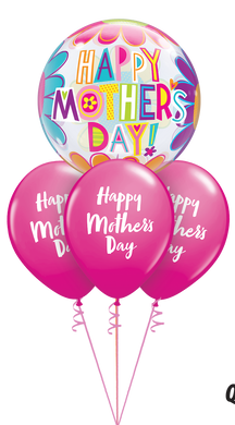 Mother's Day Big Flowers Bubble Layer