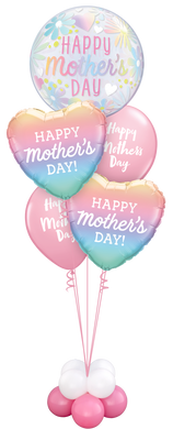 Mother's Day Floral Bubble Balloon Staggered