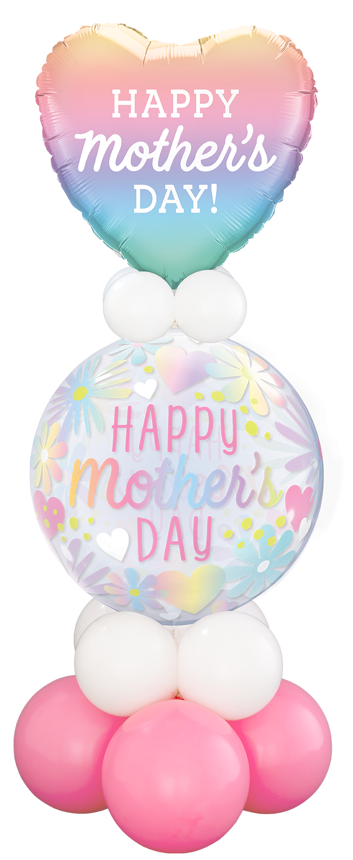 Mother's Day Floral Bubble Balloon Stand Up
