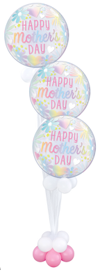 Mother's Day Floral Bubble Balloon Triple