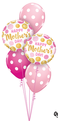 Mother's Day Pink and Gold Dots Classic