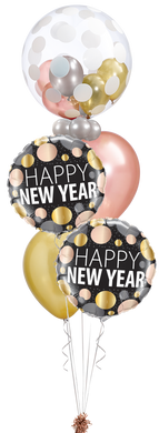 New Year Metallic Dots Celebration Staggered