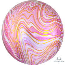 PINK Marblez Orbz Balloon - Helium Filled