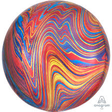 COLOURFUL Marblez Orbz Balloon - Helium Filled