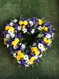 Large Seasonal Heart Wreathes