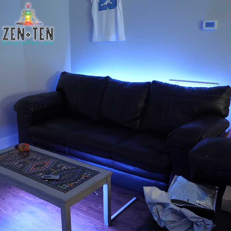 Color Changing Led Light Strips W Small Remote Zen Ten