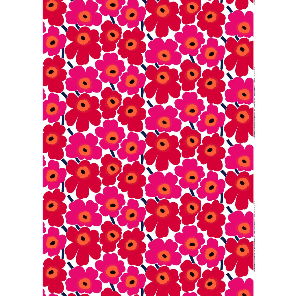 Marimekko Pieni Unikko 100% Cotton Fabric, Red