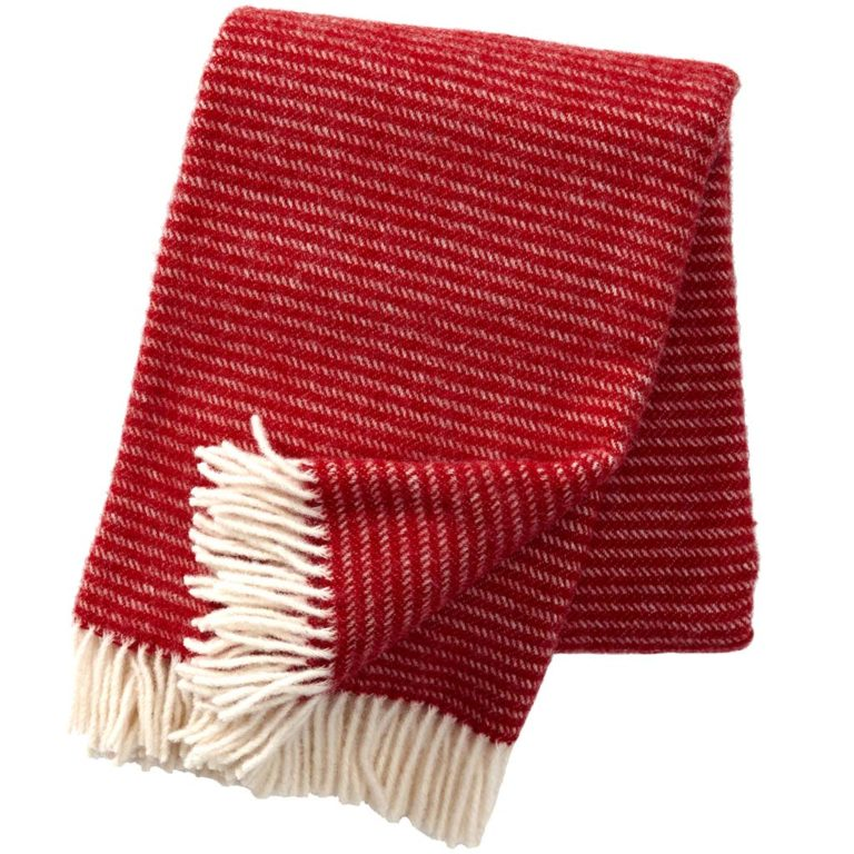 Klippan Wool Throw, Ralph Red