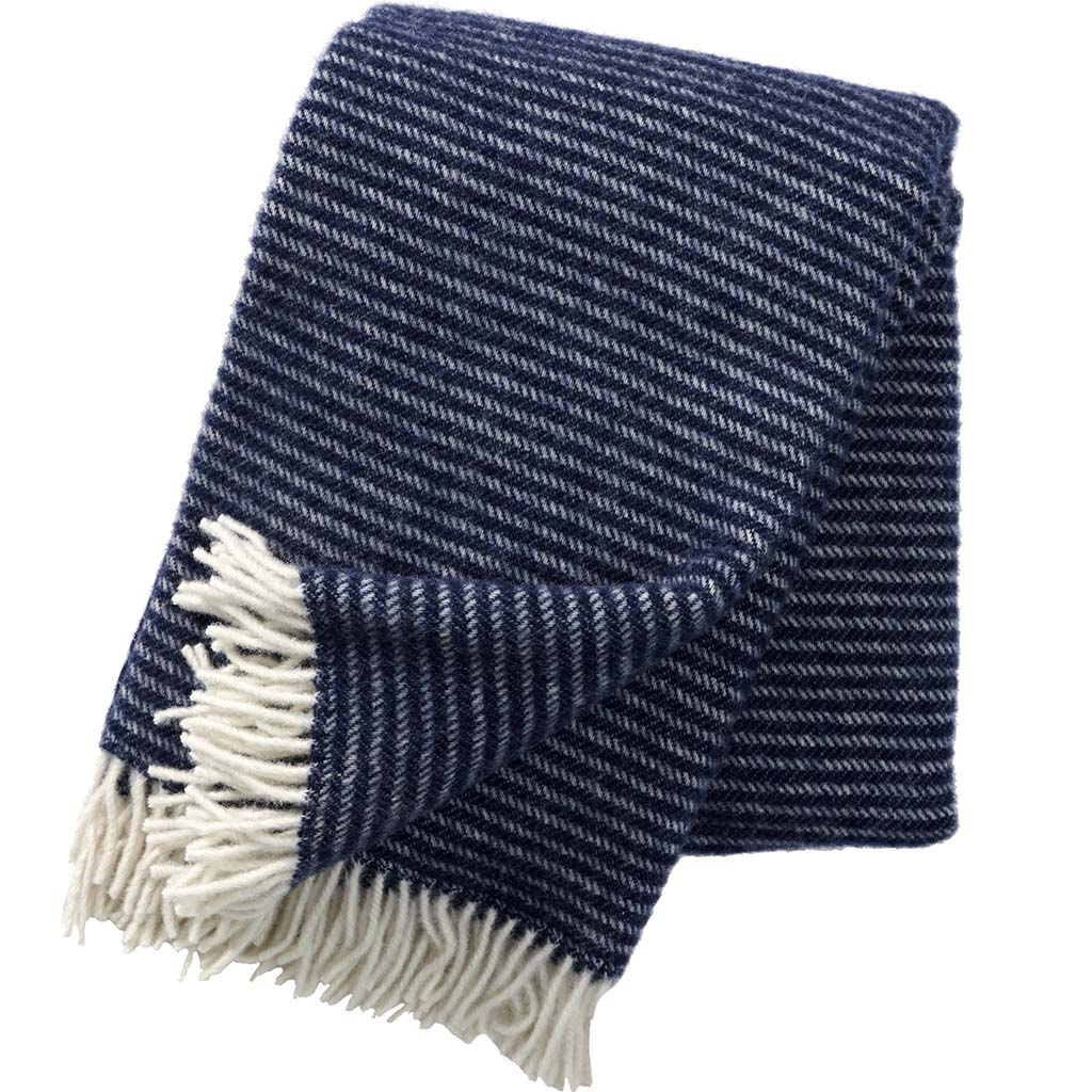 Klippan Wool Throw, Ralph Navy