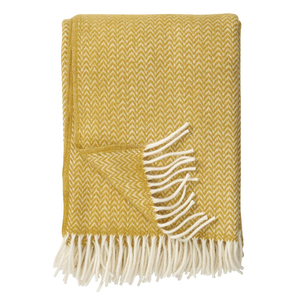 Klippan Wool Throw, Chevron Yellow