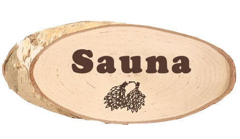 Birch Sauna Sign