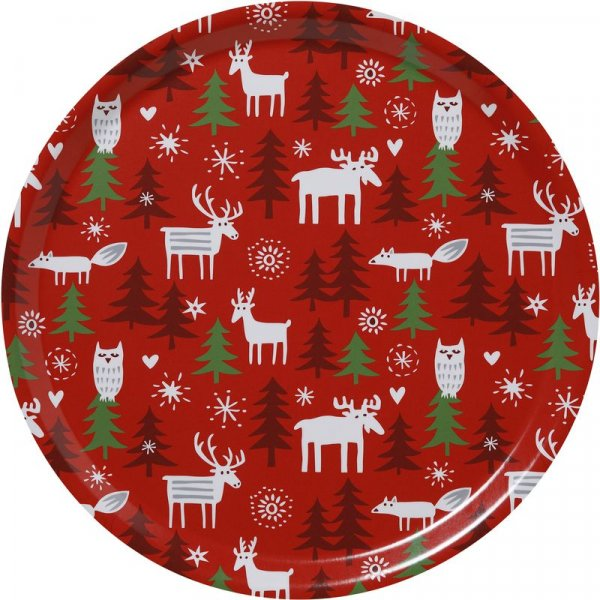 Klippan Large Birch Tray, Christmas Forest