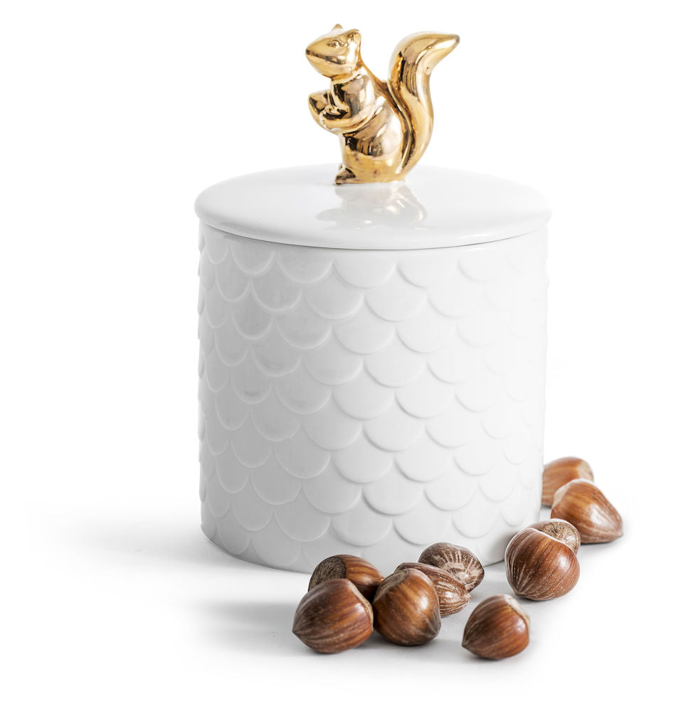 Squirrel Jar with Lid
