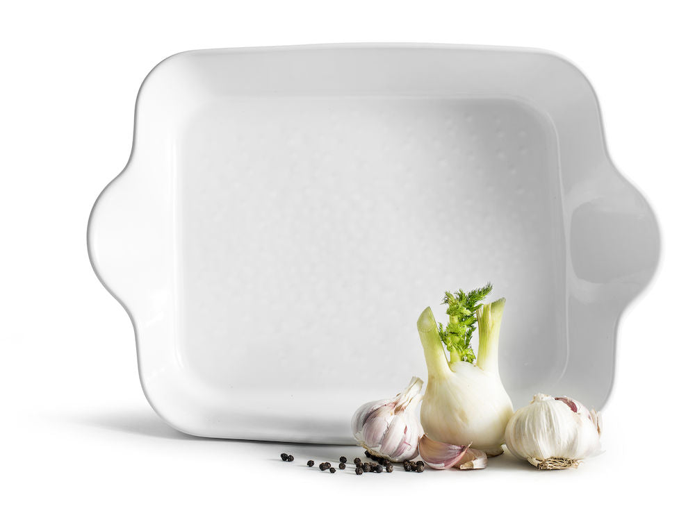 Piccadilly Rectangular Dish, White