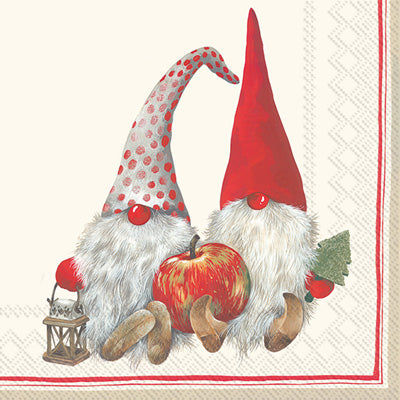 Friendly Tomte Red Lunch Napkins