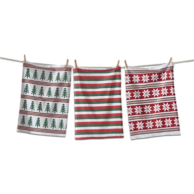 Holiday Joy Dishtowel, Set/3