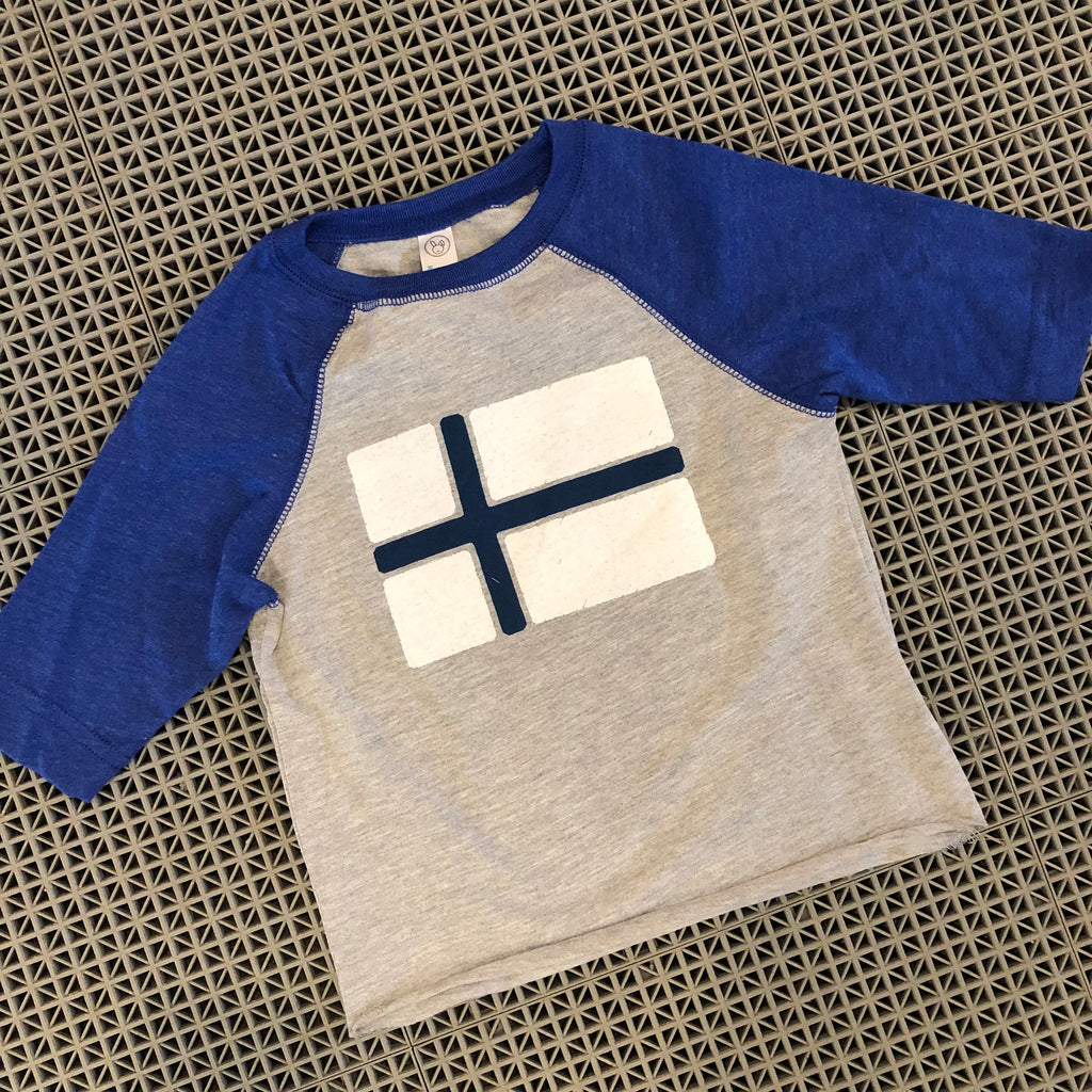 Toddler Nordic Flag Baseball Tee - Finland
