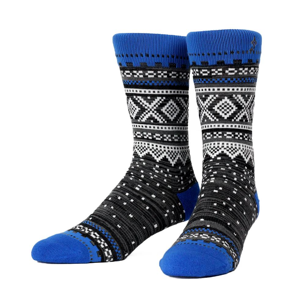 Marius Blue Glitch Socks, LG/XL