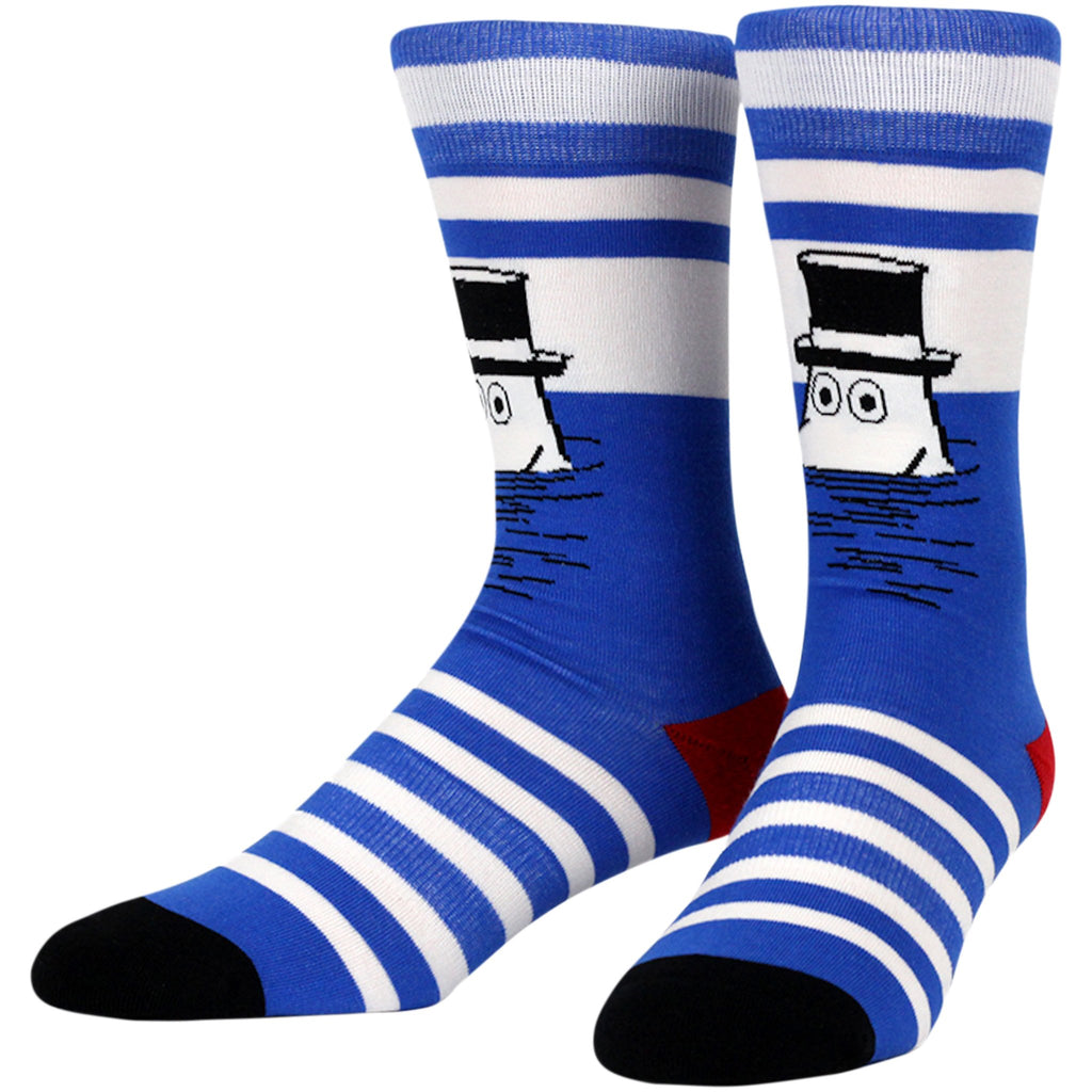 Moomin Pop Stripe Socks, LG/XL