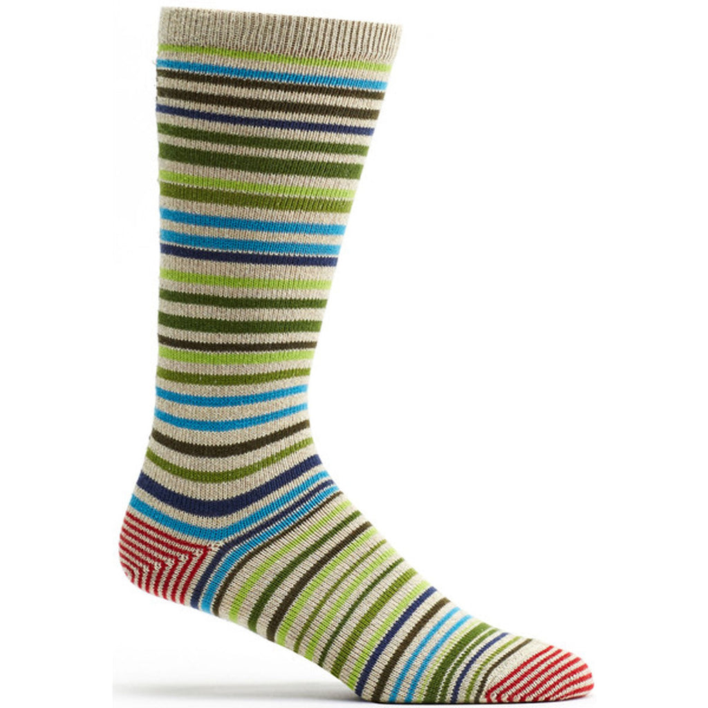 Ozone Socks, Scandinavian Stripe, Green