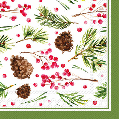 Rosanne Beck -Pinecone Pattern Cocktail Napkins