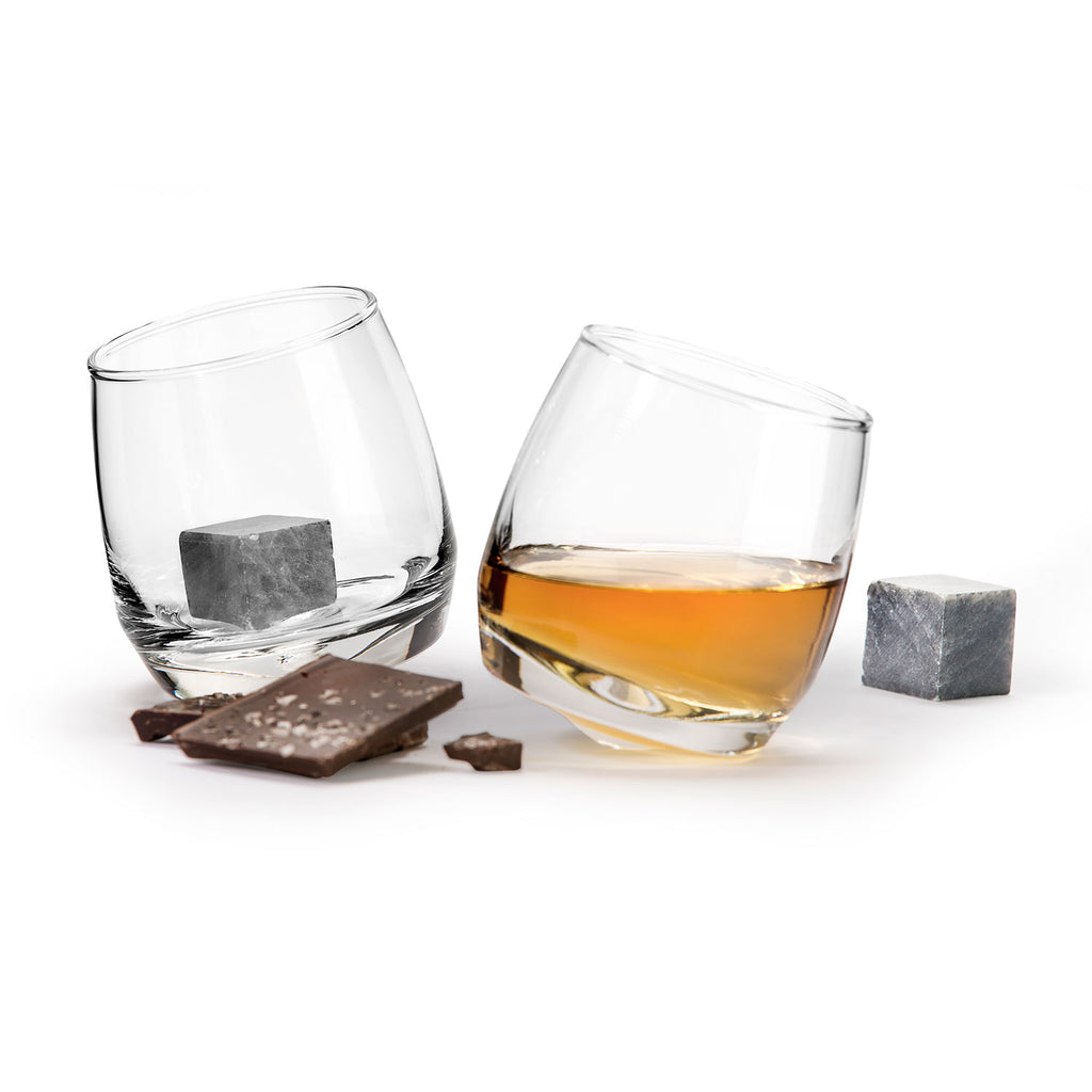 Rocking Tumblers w/ Drink Stones, 2-pack