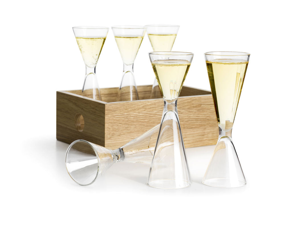 Schnapps Glass Set with Storage Box