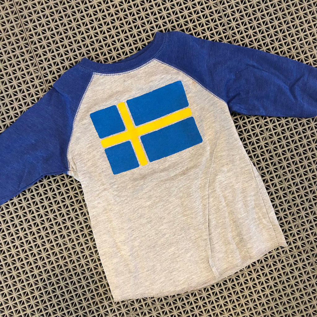 Toddler Nordic Flag Baseball Tee - Sweden