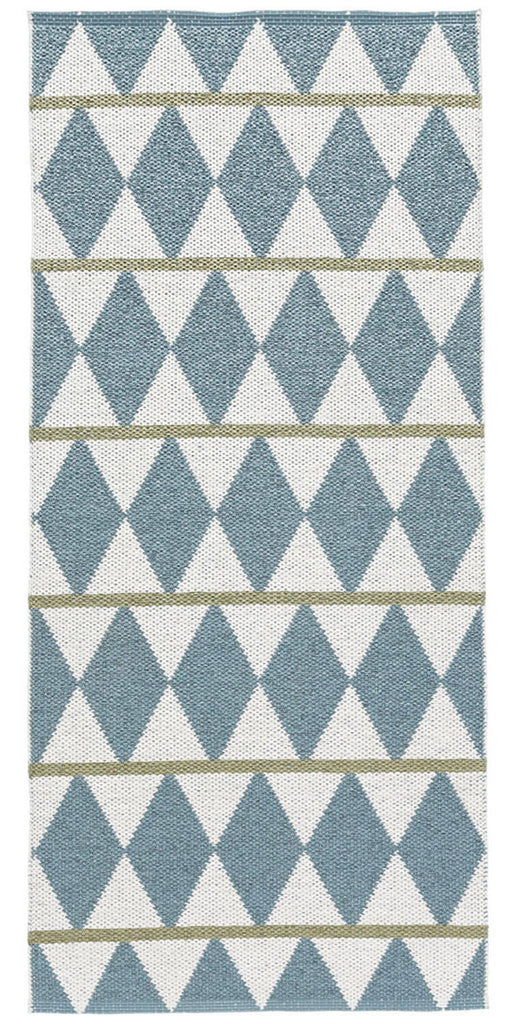 Swedish Rug, Zigge Blue