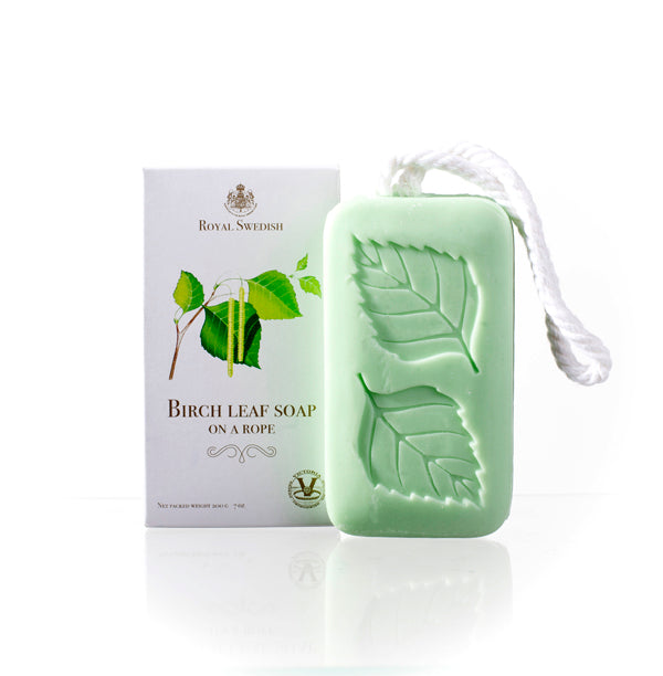 Royal Swedish Birch Leaf Soap on a Rope