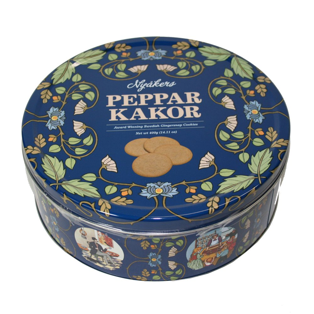 Nyåkers Pepparkakor in Blue Rosemaling Tin