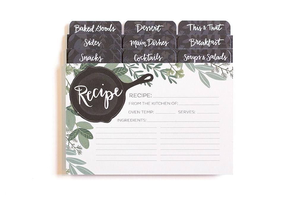 Herb Skillet Recipe Cards