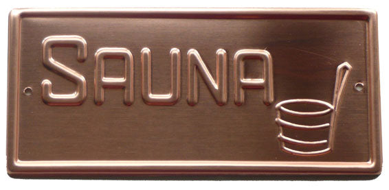 Copper Sauna Sign