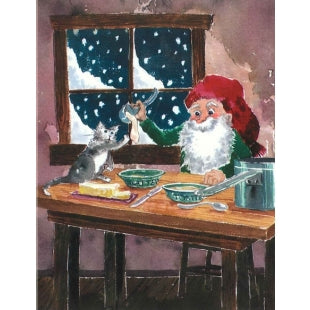 Tomten Porridge Finnish Christmas Card