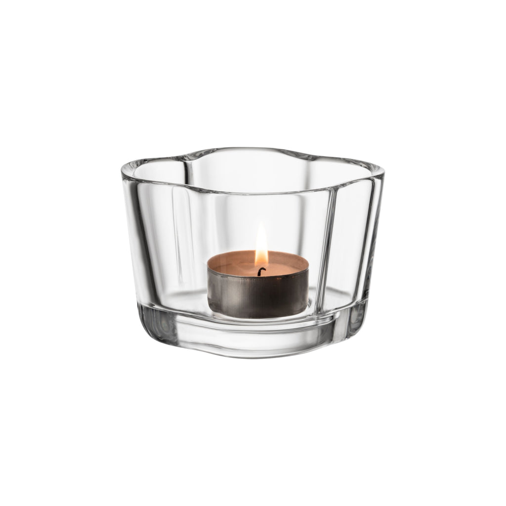 Aalto Tealight Candleholder, Clear