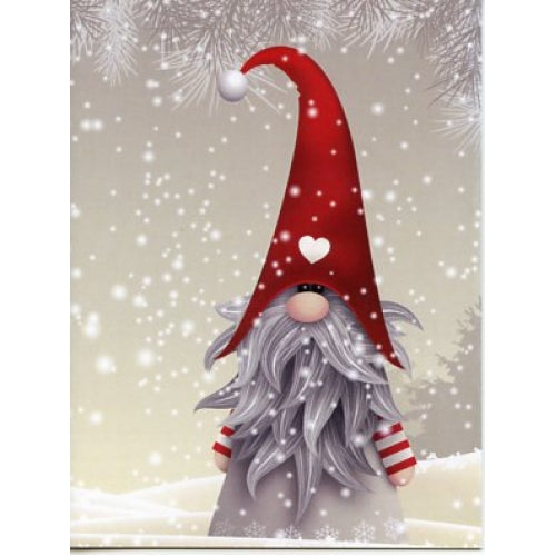 Gnome in Snow Christmas Cards, SINGLE