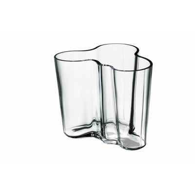 Clear Aalto Vase, 3.75 in.