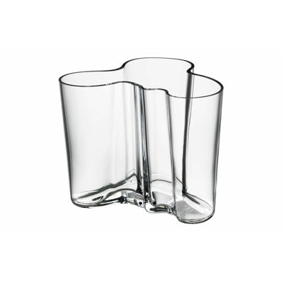 Clear Aalto Vase, 4.75 in.