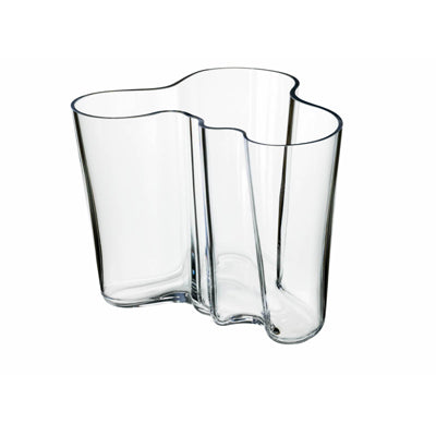 Clear Aalto Vase, 6.25 in.