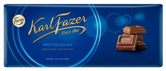 Karl Fazer Milk Chocolate Bar