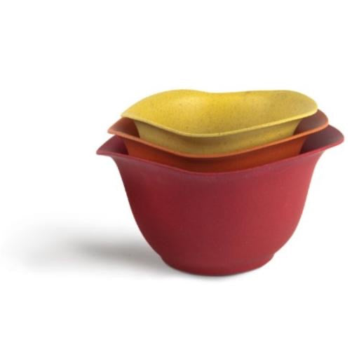 EcoSmart Purelast Mixing Bowls, Red to Yellow