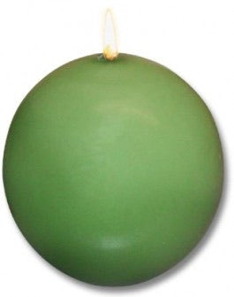 Ball Candles, Box of 4, Moss Green