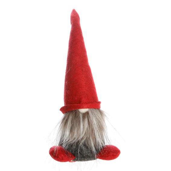 Nisse with Red Feet/Red Hat, 9""