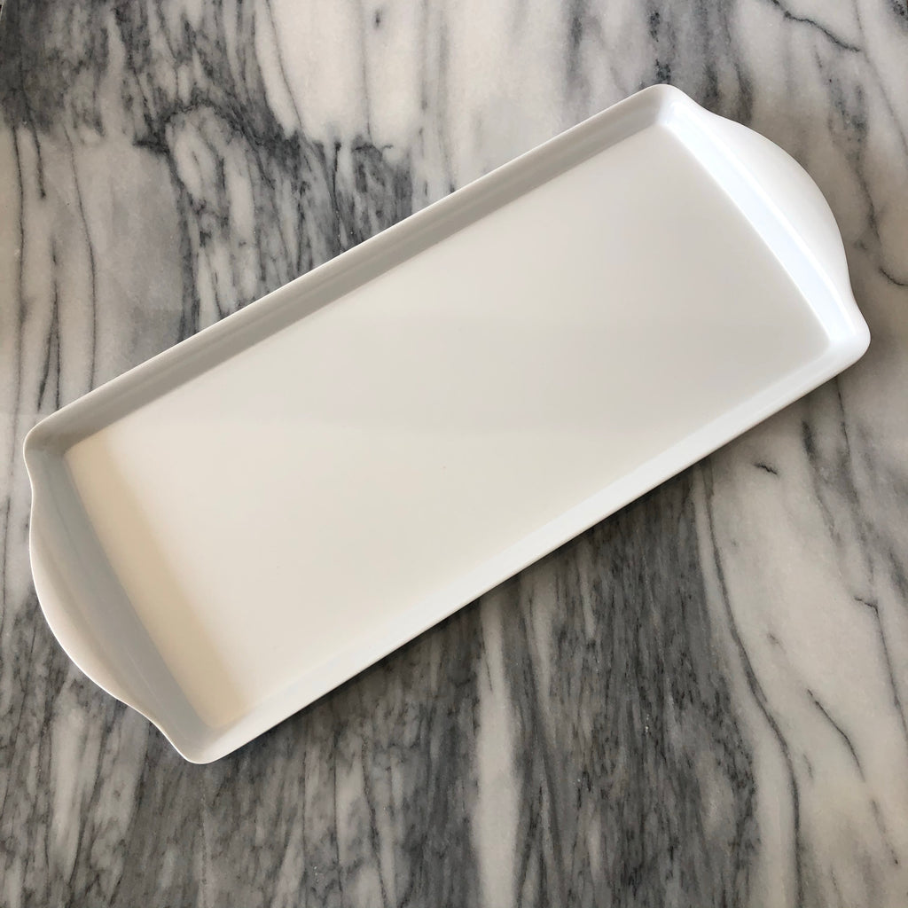 Almond Cake Tray, White