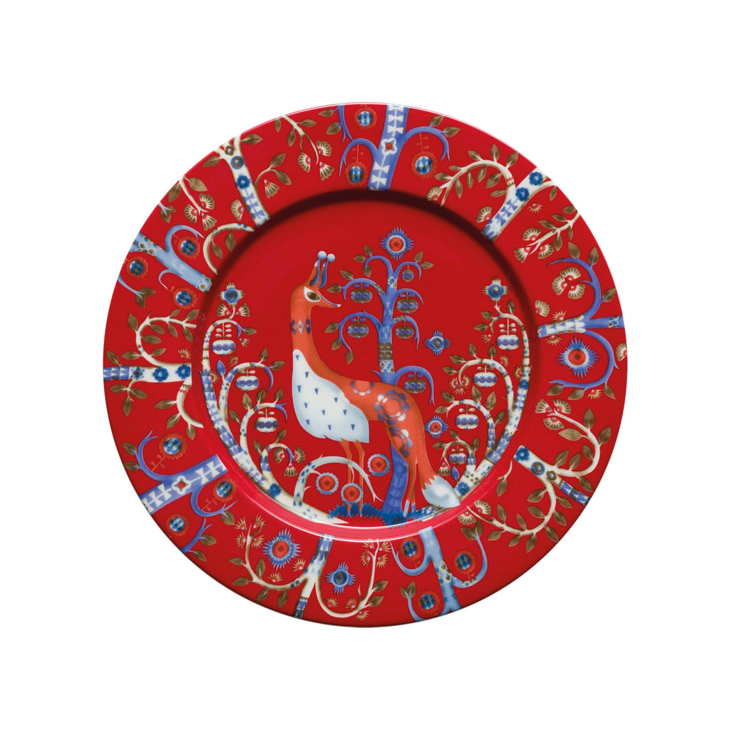 Taika Salad Plate, Red
