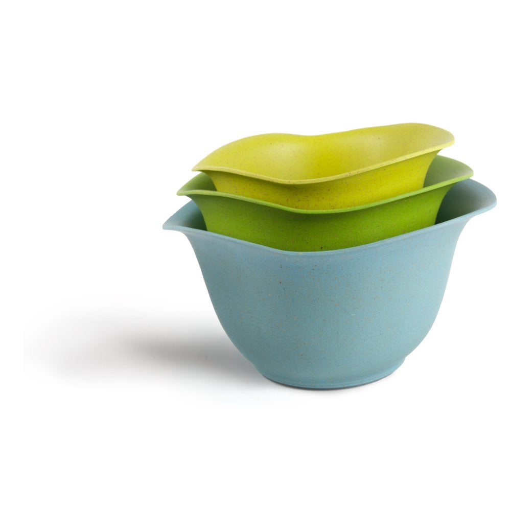 EcoSmart Purelast Mixing Bowls, Blue to Green