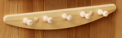 5-Peg Curved Pine Towel Hanger
