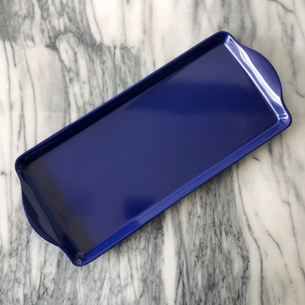 Almond Cake Tray, Blue
